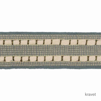 Kravet - Ramble Tape - Indigo  | Gimps & Braids, Curtain & Upholstery Trim - Beige, Blue, Fibre Blends