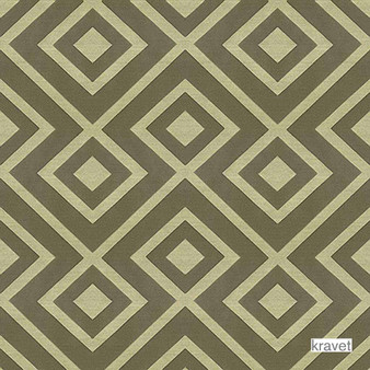 Kravet - Rory'S Trellis - Castle  | Upholstery Fabric - Stain Repellent, Brown, Contemporary, Midcentury, Synthetic, Bacteria Resistant, Diamond - Harlequin, Standard Width