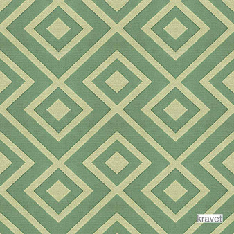 Kravet - Rory'S Trellis - Sea Green  | Upholstery Fabric - Stain Repellent, Contemporary, Midcentury, Synthetic, Bacteria Resistant, Diamond - Harlequin, Odour Resistant