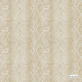 Kravet - Snake Charmer - Champagne  | Upholstery Fabric - Gold,  Yellow, Midcentury, Synthetic, Standard Width