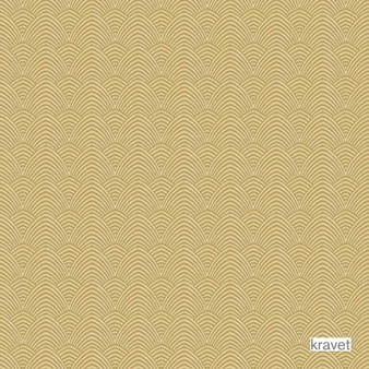 Kravet - Winward - Oro  | Curtain Fabric - Gold,  Yellow, Art Deco, Contemporary, Diaper, Scale, Synthetic, Bargellos, Jacquards, Standard Width