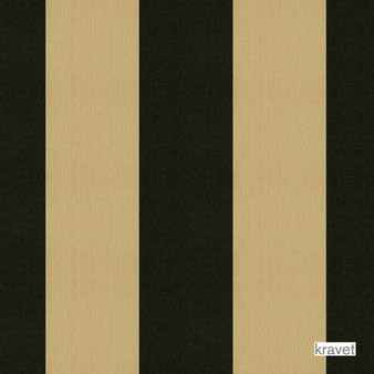 Kravet - 23336_816  | Upholstery Fabric - Gold,  Yellow, Black - Charcoal, Outdoor Use, Stripe, Synthetic, Traditional, Standard Width