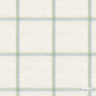 Kravet - Harbord - Meadow  | Upholstery Fabric - Blue, Check, Gingham, Natural Fibre, Traditional, Transitional, Natural, Standard Width