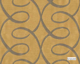 Kravet - Bewitched - Oro  | Curtain Fabric - Brown, Craftsman, Synthetic, Lattice, Trellis, Standard Width, Rococo