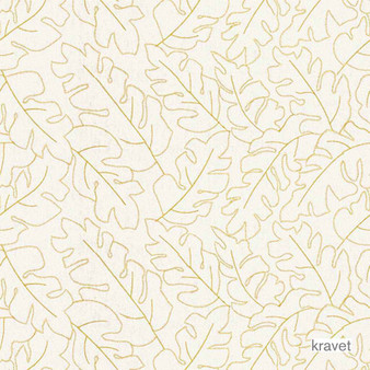 Kravet - Boyden - Citron  | Curtain & Upholstery fabric - Gold,  Yellow, White, Floral, Garden, Natural Fibre, Embroidery, Natural, White, Standard Width, Feathers