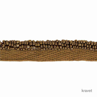 Kravet - Liquid Metal - Bronze  | Flange Cord, Trim - Brown, Fibre Blends