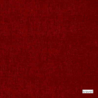 Kravet - Lavish - Lipstick  | Upholstery Fabric - Plain, Red, Synthetic, Chenille, Standard Width