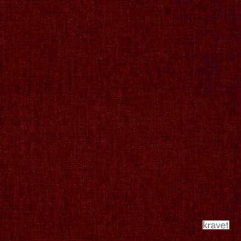 Kravet - Lavish - Scarlet  | Upholstery Fabric - Plain, Red, Synthetic, Chenille, Standard Width