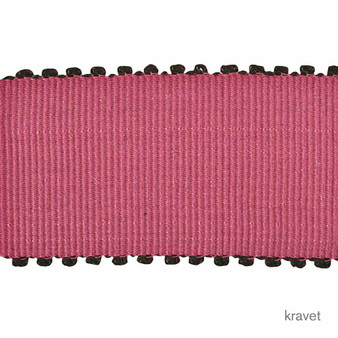 Kravet - Pico Pico - Candy  | Gimps & Braids, Curtain & Upholstery Trim - Brown, Pink, Purple, Synthetic