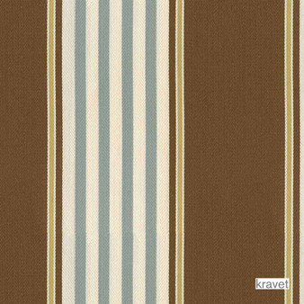 Kravet - Chaff Ticking - Seaside  | Curtain & Upholstery fabric - Brown, Outdoor Use, Stripe, Synthetic, Traditional, Standard Width