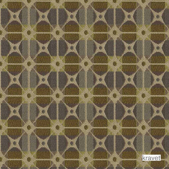 Kravet - Gateway - Lotus  | Upholstery Fabric - Stain Repellent, Brown, Check, Contemporary, Geometric, Midcentury, Synthetic, Bacteria Resistant, Lattice, Trellis