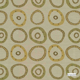 Kravet - Button Up - Seaglass  | Upholstery Fabric - Stain Repellent, Contemporary, Geometric, Mediterranean, Synthetic, Bacteria Resistant, Dots, Spots, Odour Resistant