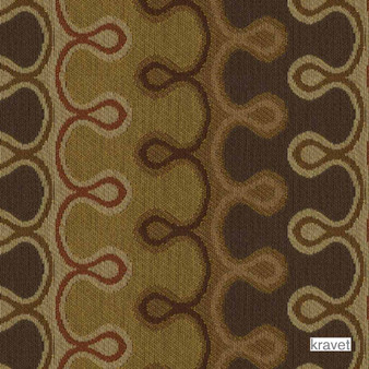 Kravet - Round Off - Brown Sugar  | Upholstery Fabric - Stain Repellent, Brown, Contemporary, Eclectic, Fibre Blends, Midcentury, Bacteria Resistant, Lattice, Trellis