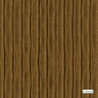 Kravet - Pleated Up - Bronze  | Curtain & Curtain lining fabric - Brown, Fibre Blends, Midcentury, Stripe, Pleated, Pleated, Wide Width