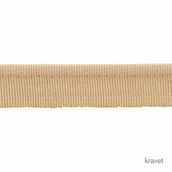 Kravet - Feng Shui Piping - Ginseng  | Flange Cord, Trim - Gold, Yellow, Trimmings, Flange Cord, Fibre Blend