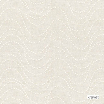 Kravet - Spot On - Blanc    Upholstery Fabric - White, Natural Fibre, Dots, Spots, Embroidery, Natural, White, Standard Width