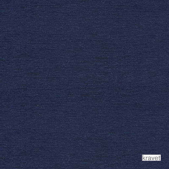 Kravet - Colony Bay - Indigo  | Upholstery Fabric - Blue, Plain, Outdoor Use, Synthetic, Chenille, Standard Width