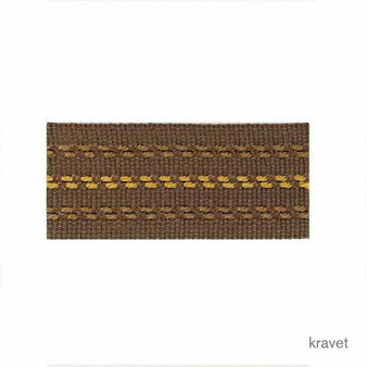 Kravet - Stitched Banding - 64    Gimps & Braids, Curtain & Upholstery Trim - Gold,  Yellow, Synthetic