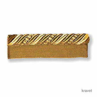 Kravet - Ribbon Flanged Cord - Gold  | Flange Cord, Trim - Gold, Yellow, Trimmings, Flange Cord