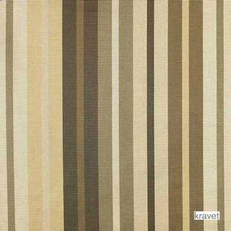 Kravet - Flambeau - Caramel  | Upholstery Fabric - Brown, Fibre Blends, Stripe, Traditional, Standard Width