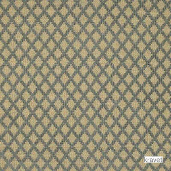 Kravet - Low Key - Blue Mist  | Upholstery Fabric - Beige, Brown, Diaper, Fibre Blends, Small Scale, Traditional, Diamond - Harlequin, Standard Width
