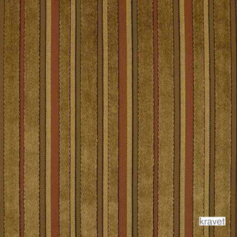 Kravet - Regent Street - Caramel  | Upholstery Fabric - Brown, Stripe, Synthetic, Traditional, Standard Width