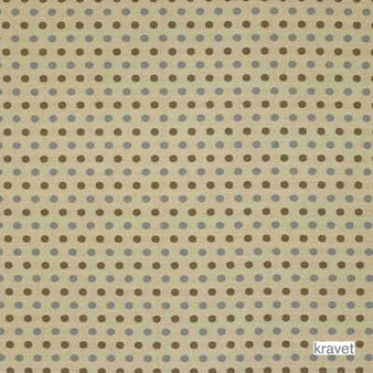 Kravet - Roll With It - Blue Mist  | Upholstery Fabric - Brown, Small Scale, Synthetic, Dots, Spots, Standard Width