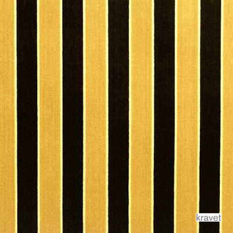 Kravet - Leap In - Caramel  | Upholstery Fabric - Gold,  Yellow, Stripe, Synthetic, Traditional, Velvet/Faux Velvet, Standard Width