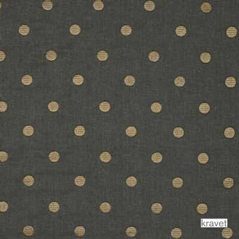 Kravet - 29244_21  | Curtain & Upholstery fabric - Brown, Black - Charcoal, Natural Fibre, Traditional, Dots, Spots, Embroidery, Natural, Standard Width
