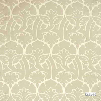 Kravet - Old World - Flax  | Upholstery Fabric - Beige, Contemporary, Midcentury, Natural Fibre, Silk, Transitional, Natural, Standard Width, Circles
