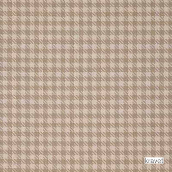 Kravet - Shasta - Bisque  | Curtain & Upholstery fabric - Brown, Check, Farmhouse, Gingham, Natural Fibre, Natural, Standard Width