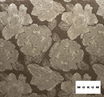 Mokum Caledonia - Sable    Curtain & Upholstery fabric - Brown, Craftsman, Deco, Decorative, Eclectic, Floral, Garden, Natural Fibre, Organic, Tropical, Domestic Use