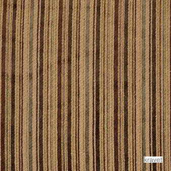 Kravet - Lukas - Russet  | Upholstery Fabric - Brown, Stripe, Synthetic, Traditional, Chenille, Standard Width