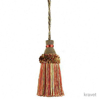 Kravet - T30442_73  | Key Tassel, Curtain & Upholstery, Trim - Red, Fibre Blends