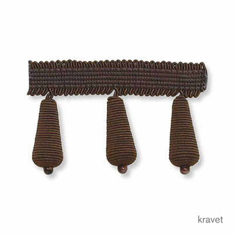 Kravet - Bijou Bauble - Truffle  | Fringe, Curtain & Upholstery Trim - Brown, Trimmings, Fringe, Fibre Blend