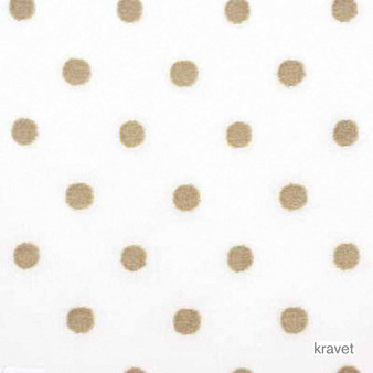 Kravet - Soft Spot - Flax    Curtain Fabric - Beige, White, Natural Fibre, Traditional, Transitional, Dots, Spots, Natural, White, Standard Width