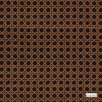 Kravet - Cobble D.8  | Curtain & Upholstery fabric - Brown, Geometric, Midcentury, Natural Fibre, Small Scale, Natural, Print, Standard Width