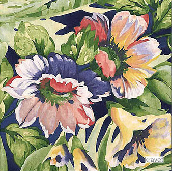 Kravet - Shore D.540  | Curtain & Upholstery fabric - Floral, Garden, Natural Fibre, Tropical, Natural, Print, Standard Width