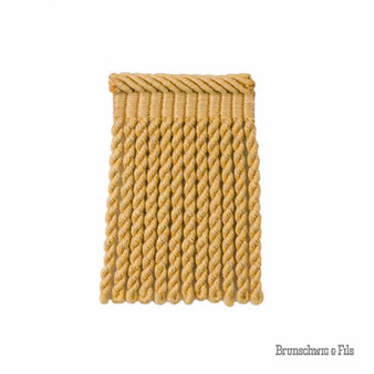Brunschwig And Fils - Coeur Bullion-S - Soleil    Fringe, Curtain & Upholstery Trim - Gold, Yellow, Traditional, Trimmings, Fringe