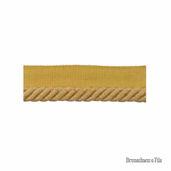 Brunschwig And Fils - Coeur Cable-S - Soleil    Flange Cord, Trim - Gold, Yellow, Traditional, Trimmings, Flange Cord, Fibre Blend