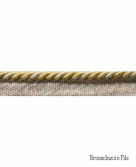 Brunschwig And Fils - Belluno Cord With Flyer - Pineapple  | Flange Cord, Trim - Gold, Yellow, Traditional, Trimmings, Flange Cord, Fibre Blend
