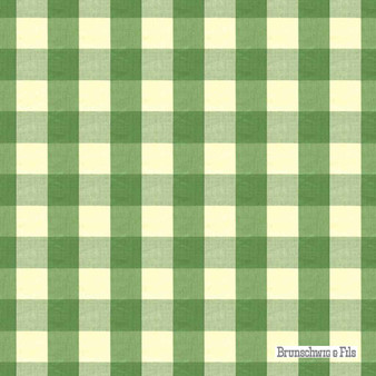 Brunschwig And Fils - Exchequer Cotton Check - Jade  | Upholstery Fabric - Check, Farmhouse, Gingham, Natural Fibre, Traditional, Natural, Standard Width