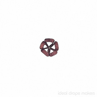 IDM - Exquisite Rosette Clover RZ7 _8894 Harlequin    Rosette, Curtain & Upholstery, Trim - Gold,  Yellow, Pink, Purple, Traditional, Domestic Use