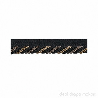 IDM - The Cotswolds Flanged Cord BI300 _15 Knight  | Flange Cord, Trim - Black, Charcoal, Brown, Gold, Yellow, Tan, Taupe, Traditional