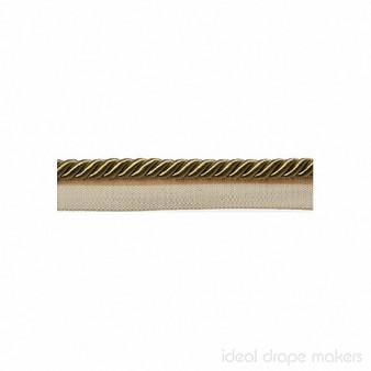 IDM - Classic Windsor Flanged Cord 1029T _8087 Old Gold    Flange Cord, Trim - Gold, Yellow, Tan, Taupe, Traditional, Trimmings, Flange Cord