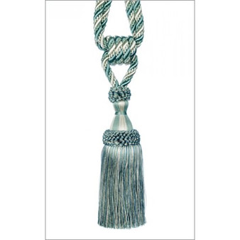 IDM - Cavalier Tie Back 3369-10 _8751 Teal Oyster    Tie back, Curtain Accessory - Green, Turquoise, Teal, Traditional, Whites, Trimmings, Tie-Back