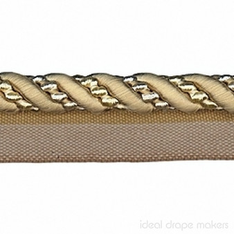 IDM - Cavalier Flanged Cord 1011_8734 Warm Beige    Flange Cord, Trim - Beige, Tan, Taupe, Traditional, Trimmings, Flange Cord
