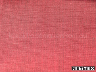 Nettex Grange Flame MG39  | Curtain Fabric - Plain, Red, Fibre Blends, Uncoated, Domestic Use, Standard Width, Strie