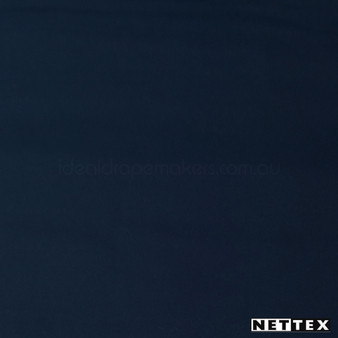 Nettex Epic Navy 878B  | Curtain Fabric - Blockout, Blue, Fire Retardant, Plain, Synthetic, Commercial Use, Domestic Use, Standard Width