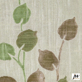 JW Design - Camille Spring Uncoated 140cm  | Curtain Fabric - Brown, Fire Retardant, Grey, Contemporary, Floral, Garden, Pattern, Synthetic, Uncoated, Washable, Domestic Use